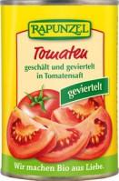 Kooritud tükeldatud tomatid omas mahlas 400g Rapunzel