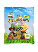 Vegan südame kummikommid, 100g / Ökovital