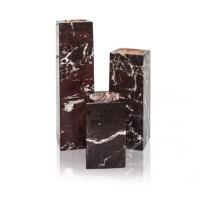 Teeküünla alus, punane marmor, kõrgus 15cm