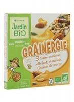 JardinBio Energiabatoon aprikoosi, mandlite ja maapähklitega 3 x 25g