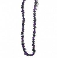 Kaelakee – Hematiit + Ametüst tsipsid, ca. 44-48 cm