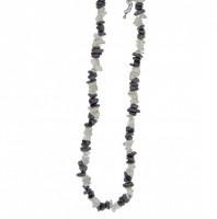 Kaelakee – Mäekristall + Hematiit tsipsid, ca. 44-48 cm