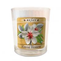 Sojavahast lõhnaküünal Almond Blossom – klaasis