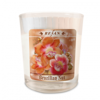 Sojavahast lõhnaküünal Brazilian Nut – klaasis