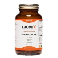 Ecosh LuudeX [K2 + D3 + Ca + Mg] kapslid 90tk