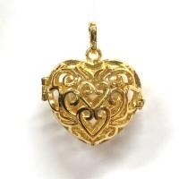 Aroomiteraapia ripats kuldne süda, 18mm