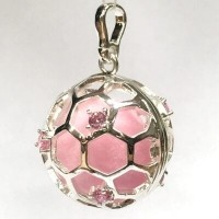 Aroomiteraapia ripats hõbedane roosa tsirkooniga, 20mm