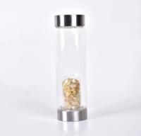 Kristallidega veepudel, Tsitriin, 550ml